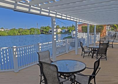 Tiki Deck overlooking lake